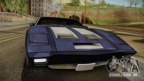 AMC AMX 3 39 1970 para GTA San Andreas traseira esquerda vista