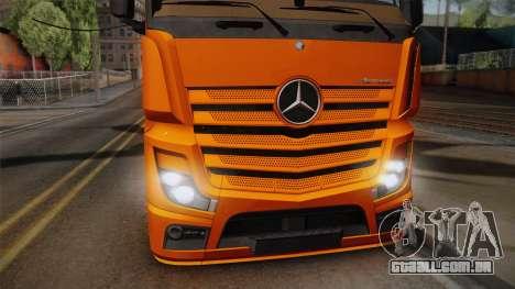Mercedes-Benz Actros Mp4 4x2 v2.0 Steamspace para GTA San Andreas traseira esquerda vista