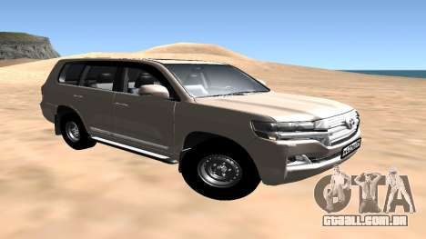 Toyota Land Cruiser 200 2016 para GTA San Andreas