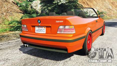 GTA 5 BMW 328i (E36) M-Sport v1.1 [replace] traseira vista lateral esquerda