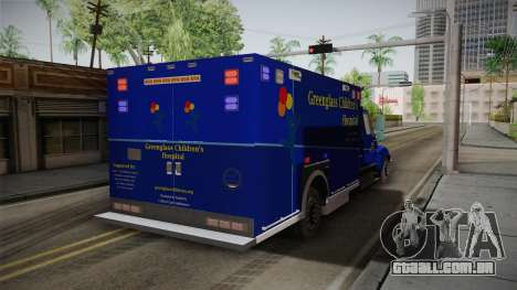International Terrastar Ambulance 2014 para GTA San Andreas traseira esquerda vista