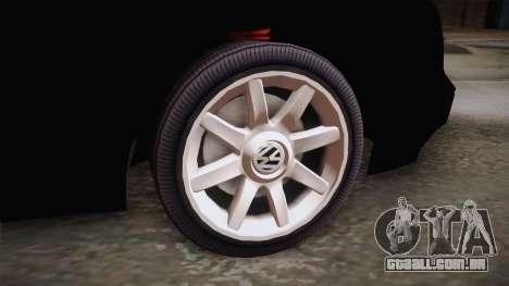 Volkswagen Golf Mk3 Blyatmobile para GTA San Andreas traseira esquerda vista