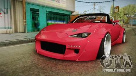 Mazda MX-5 2016 Hachiraito para GTA San Andreas vista direita