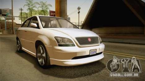 GTA 5 Emperor Habanero IVF para GTA San Andreas vista direita
