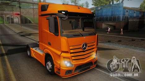 Mercedes-Benz Actros Mp4 4x2 v2.0 Steamspace para GTA San Andreas