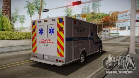 Chevrolet Express 2011 Ambulance para GTA San Andreas traseira esquerda vista