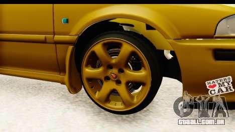 Rover 220 Gold Edition para GTA San Andreas vista traseira