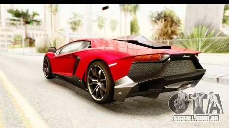 Lamborghini Aventador LP720-4 2013 para GTA San Andreas esquerda vista