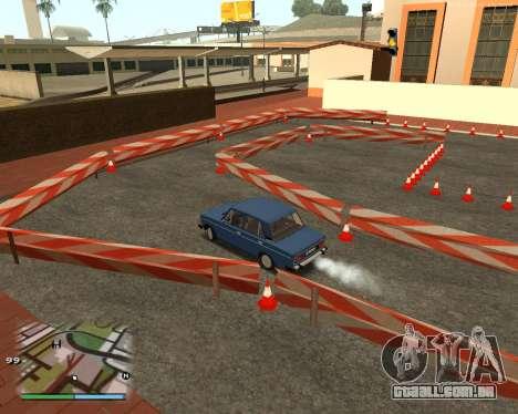 O circuito, como na escola de condução para GTA San Andreas quinto tela
