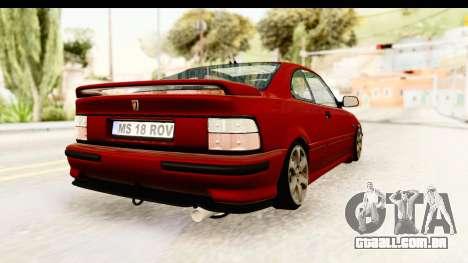Rover 220 Kent 2 para GTA San Andreas traseira esquerda vista