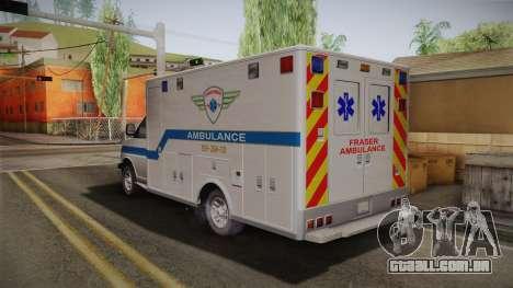 Chevrolet Express 2011 Ambulance para GTA San Andreas esquerda vista