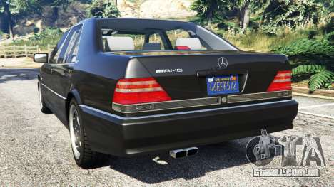 GTA 5 Mercedes-Benz W140 AMG [replace] traseira vista lateral esquerda