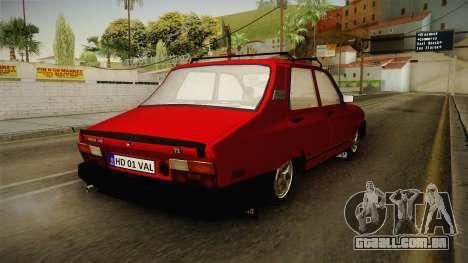 Dacia 1310 TX 1986 v2 para GTA San Andreas traseira esquerda vista