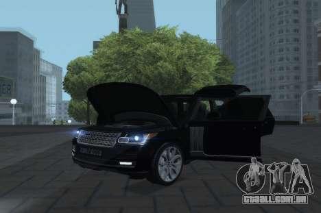 Land Rover Range Rover Vogue para GTA San Andreas vista direita