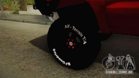 Toyota Hilux 2010 Venezolana de Off Road para GTA San Andreas vista traseira