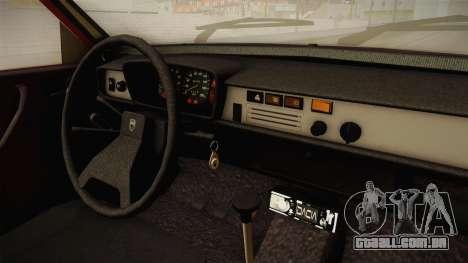 Dacia 1310 TX 1986 v2 para GTA San Andreas vista interior