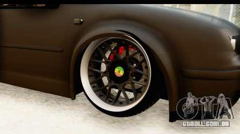 Volkswagen Bora Pickup para GTA San Andreas vista traseira