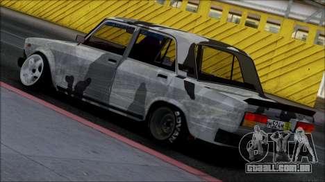 2107 Único para GTA San Andreas esquerda vista