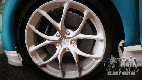 Bugatti Chiron 2017 v2.0 Italian Plate para GTA San Andreas vista direita