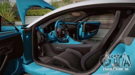 Bugatti Chiron 2017 v2.0 Italian Plate para GTA San Andreas vista interior
