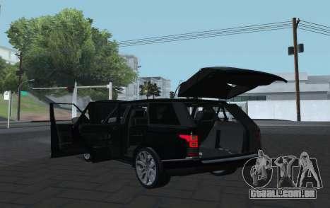 Land Rover Range Rover Vogue para GTA San Andreas vista traseira