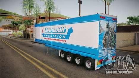 Trailer 4 Axle para GTA San Andreas vista direita