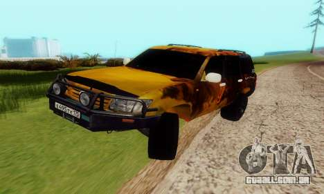 Toyota Land Cruiser 105 para GTA San Andreas vista traseira