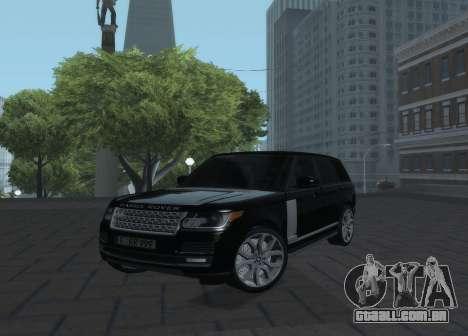 Land Rover Range Rover Vogue para GTA San Andreas