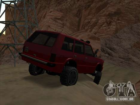 Huntley Offroad para GTA San Andreas traseira esquerda vista