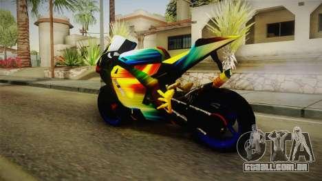 Rainbow Motorcycle para GTA San Andreas esquerda vista