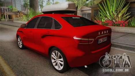Lada Vesta Sedan para GTA San Andreas esquerda vista