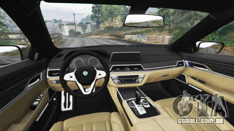 GTA 5 BMW 750i xDrive M Sport (G11) [add-on] vista lateral direita