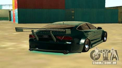 AUDI A7 SPORTS para GTA San Andreas traseira esquerda vista
