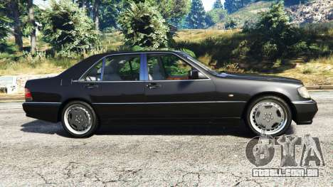 GTA 5 Mercedes-Benz W140 AMG [replace] vista lateral esquerda