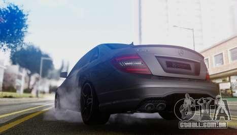 Mercedes-Benz C63 AMG w204 para GTA San Andreas vista traseira
