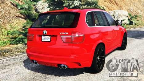 GTA 5 BMW X5 M (E70) 2013 v0.3 [replace] traseira vista lateral esquerda