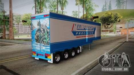 Trailer 4 Axle para GTA San Andreas esquerda vista