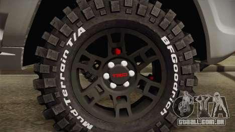 Toyota 4runner 2010 para GTA San Andreas vista traseira