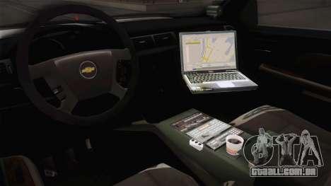 Chevrolet Silverado 2009 SA DOT para GTA San Andreas vista interior