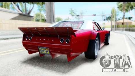 GTA 5 Declasse Tampa Drift IVF para GTA San Andreas esquerda vista