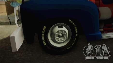 GMC 4100 1950 GRUA para GTA San Andreas vista traseira