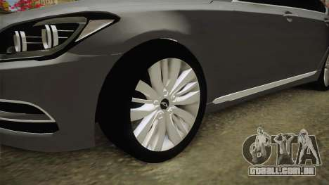 Hyundai Genesis 2016 v1.2 para GTA San Andreas vista traseira