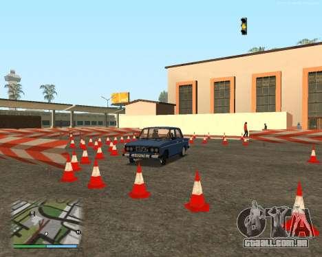 O circuito, como na escola de condução para GTA San Andreas nono tela