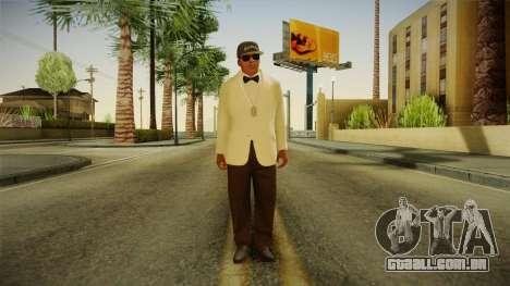 GTA 5 Franklin Tuxedo v3 para GTA San Andreas segunda tela