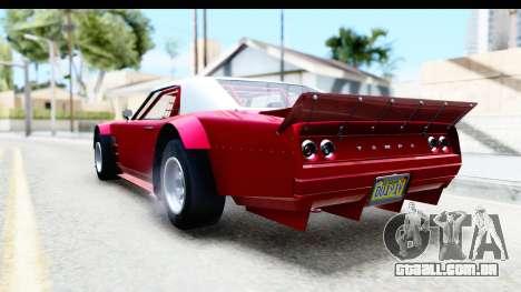 GTA 5 Declasse Tampa Drift IVF para GTA San Andreas traseira esquerda vista
