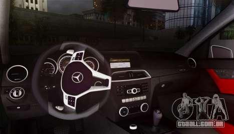 Mercedes-Benz C63 AMG w204 para GTA San Andreas vista interior