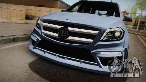 Mercedes-Benz GL63 Brabus para GTA San Andreas traseira esquerda vista