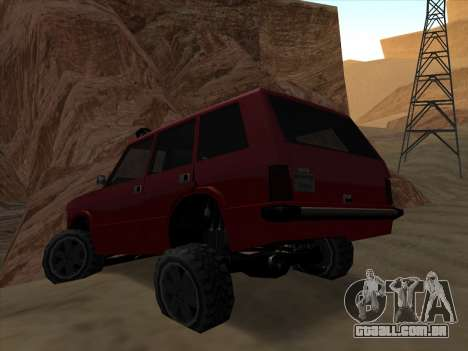 Huntley Offroad para GTA San Andreas esquerda vista