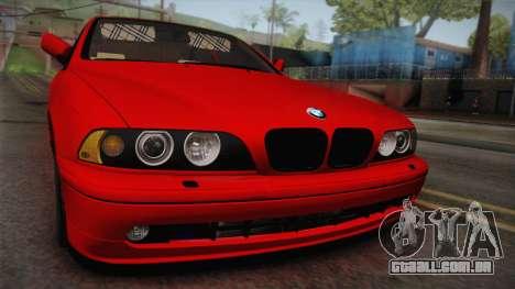 BMW 530d E39 Red Black para GTA San Andreas vista direita