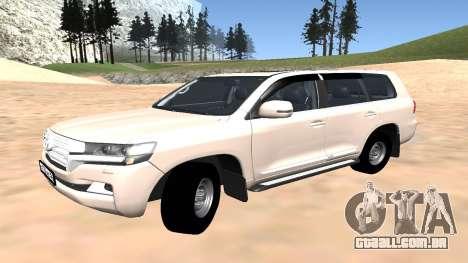 Toyota Land Cruiser 200 2016 para GTA San Andreas